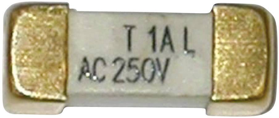 SMD pojistka ESKA pomalá 225011, 250 V, 250 mA, 12,1 mm x 4.45 mm