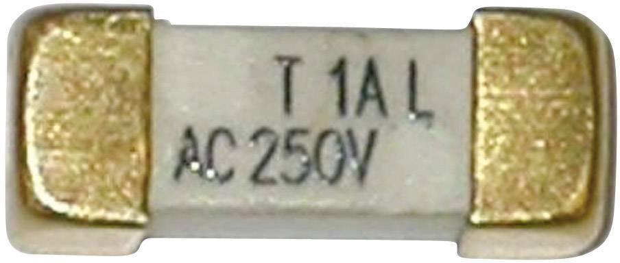 SMD pojistka ESKA pomalá 225017, 250 V, 1 A, 12,1 mm x 4.45 mm