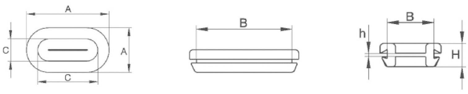 PB Fastener Odprta kabelska uvodnica z membrano 1097-01 PVC črna