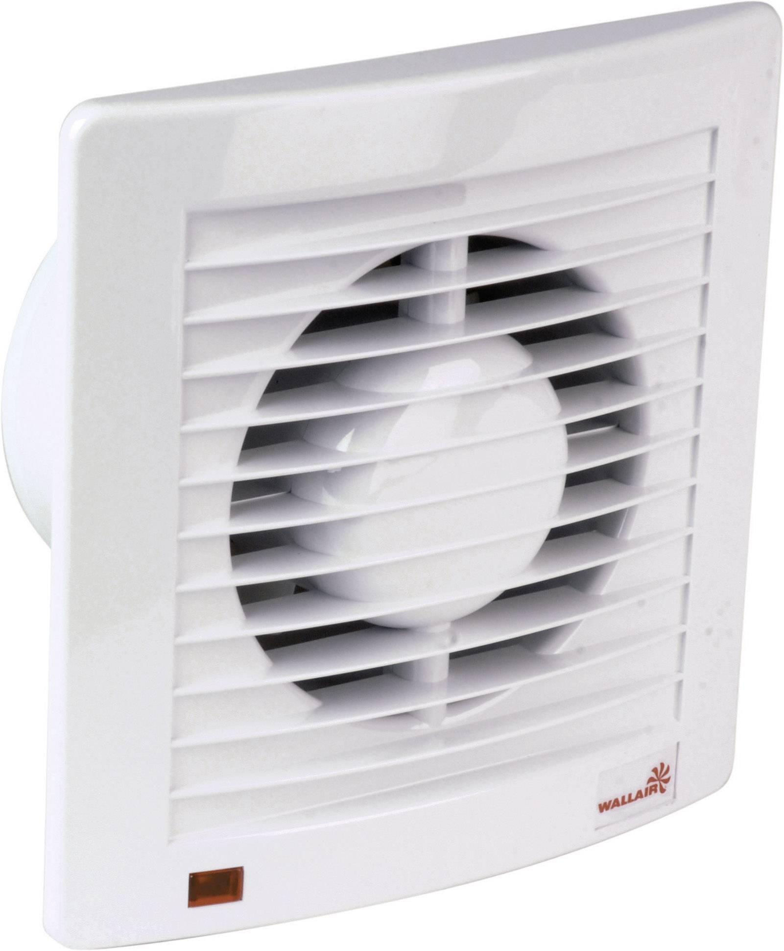 Nástenný a stropný ventilátor s časovačom Wallair W-Style 100 mm, biely