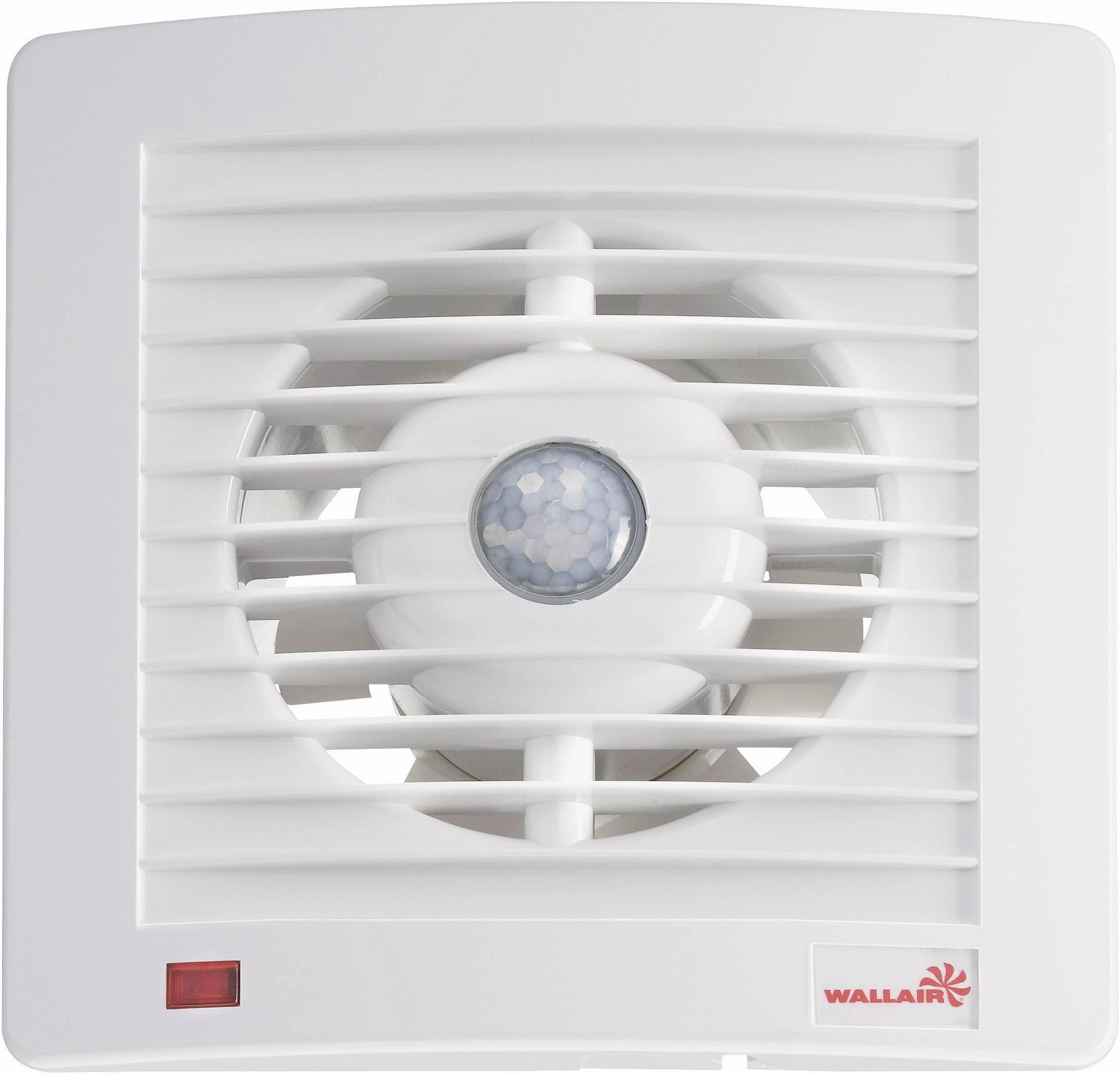 Vestavný ventilátor s detektorem pohybu Wallair 125, 20110604, 230 V, 95 m3/h, 16 cm