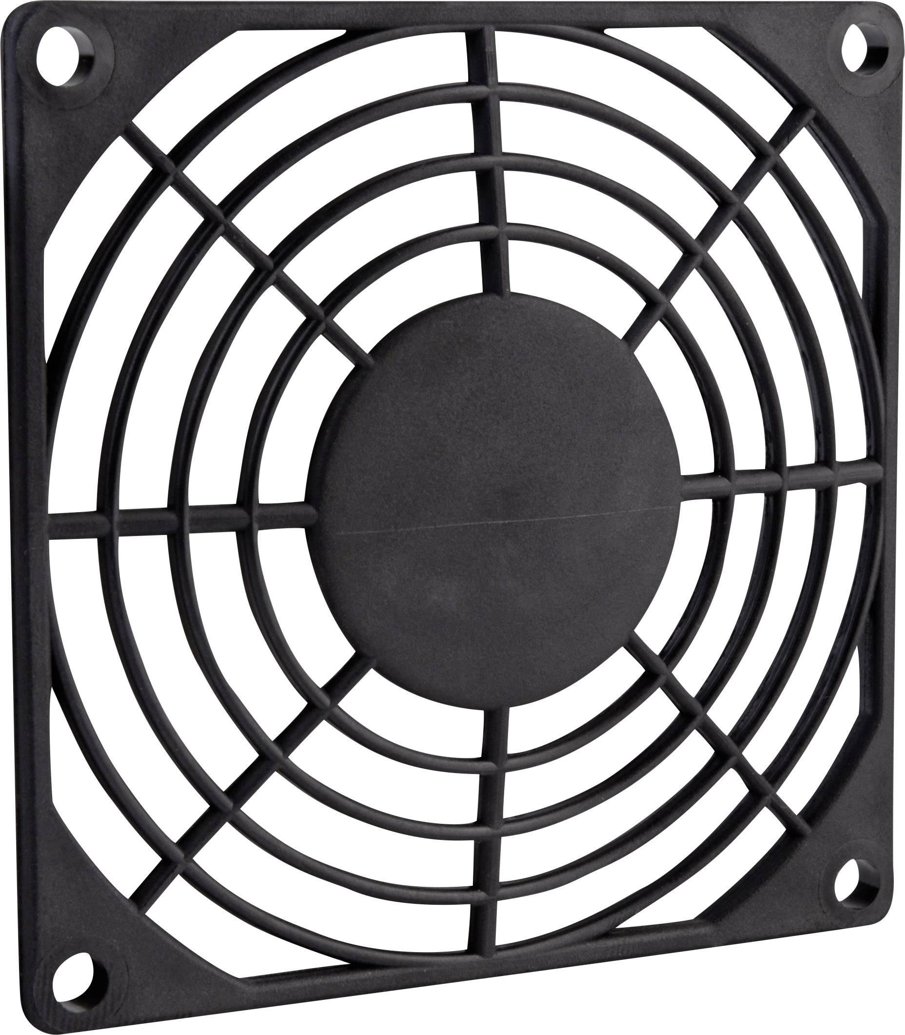 Kryt ventilátora Wallair, 80 x80 mm, čierny