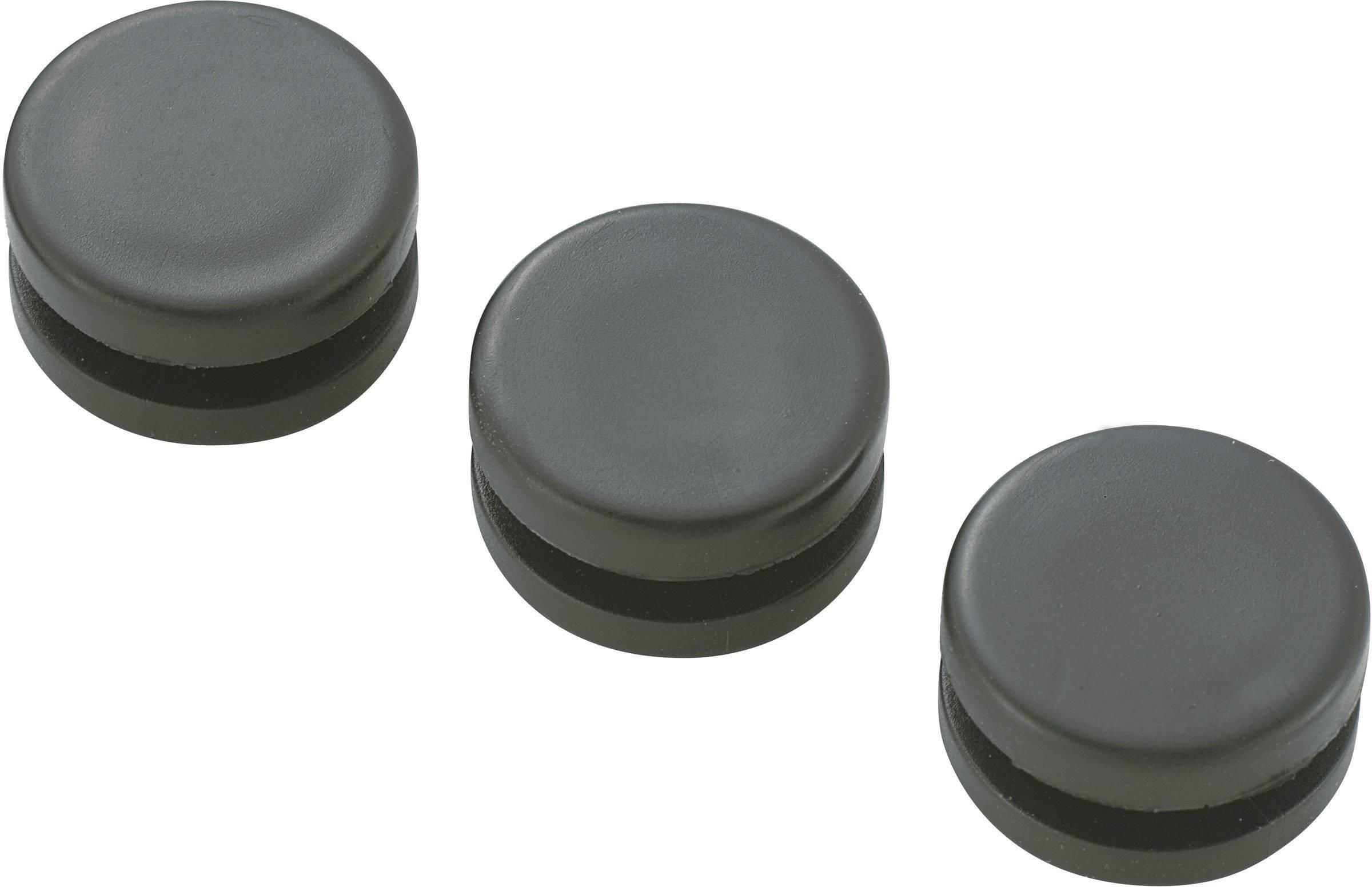 Káblová priechodka KSS GMCQR-1108, Ø 7.8 mm, PVC, čierna, 1 ks