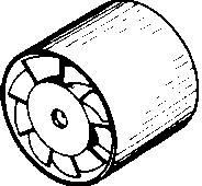 Ventilátor do potrubí Wallair 20100262 150 mm