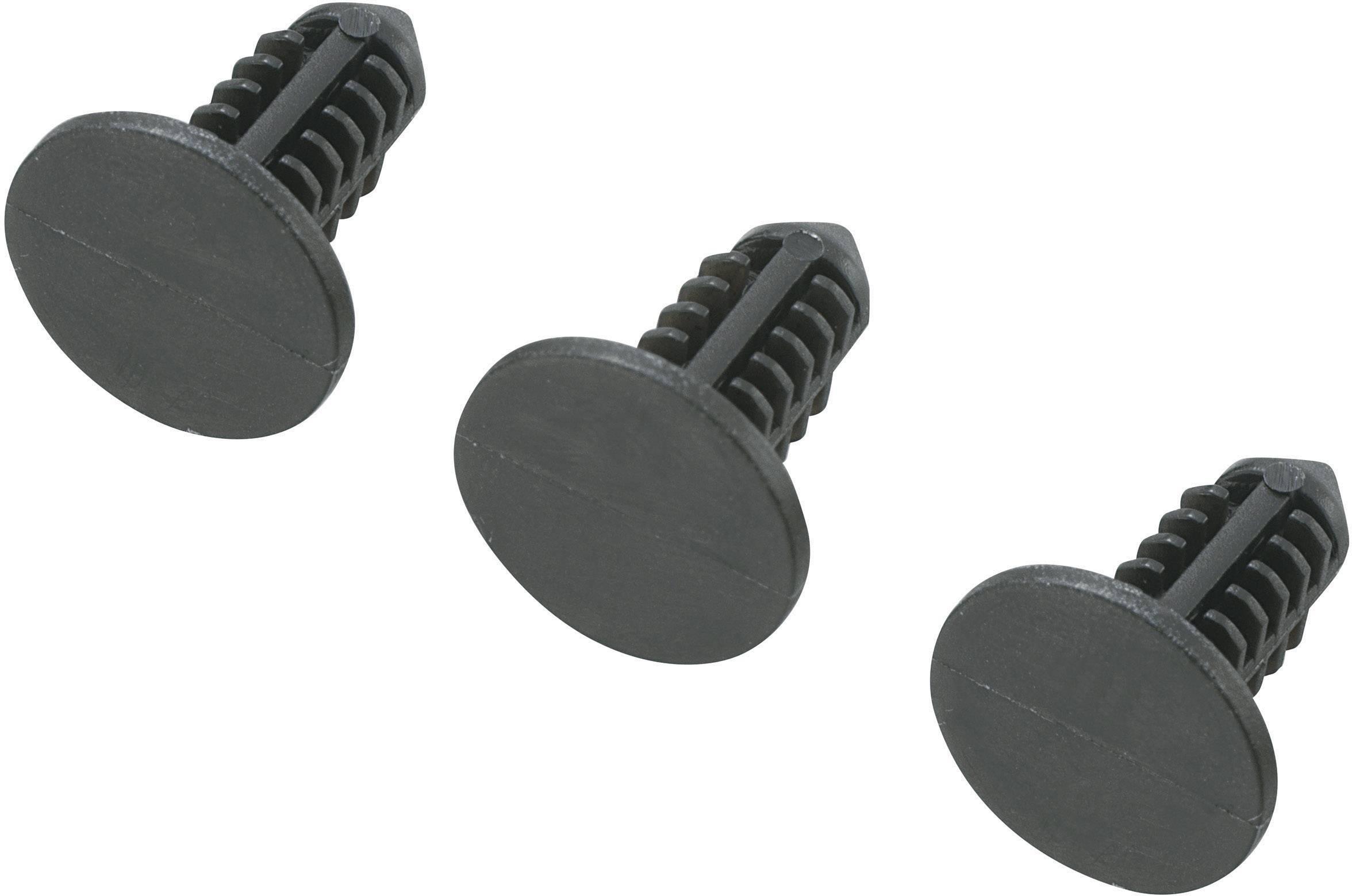 Držiak na DPS TRU COMPONENTS TC-SR-0512BK203 1593441, polyamid, délka 12.5 mm, 1 ks