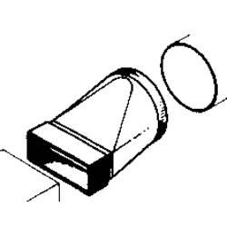 Redukce Wallair čtyřhranná/kruhová, bílá