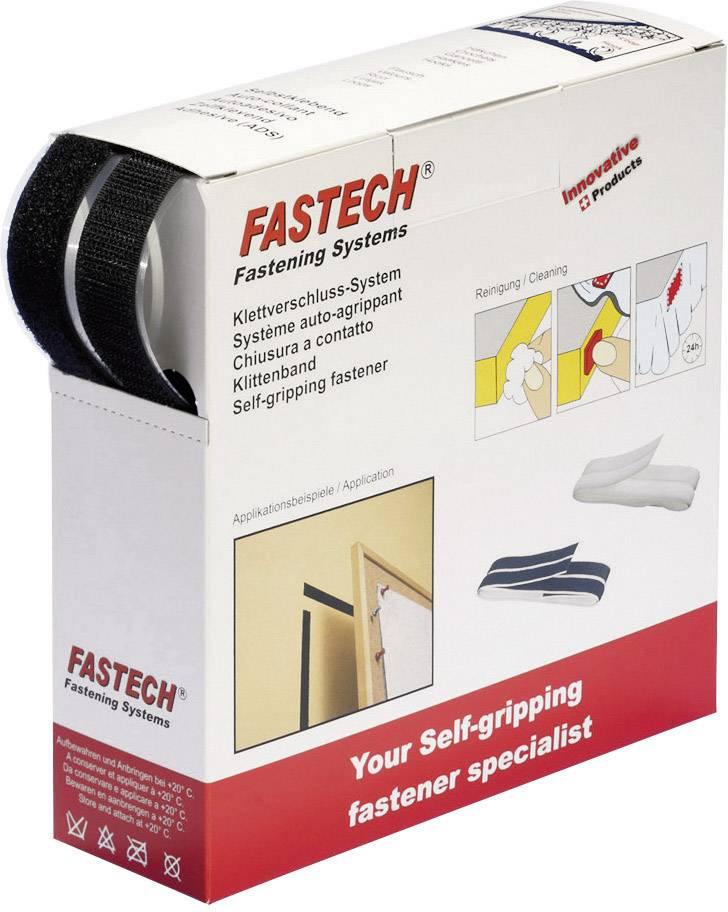 Samolepicí páska se suchým zipem Fastech B50-SKL02999910, černá, 10 m x 50 mm, černá, 10 m