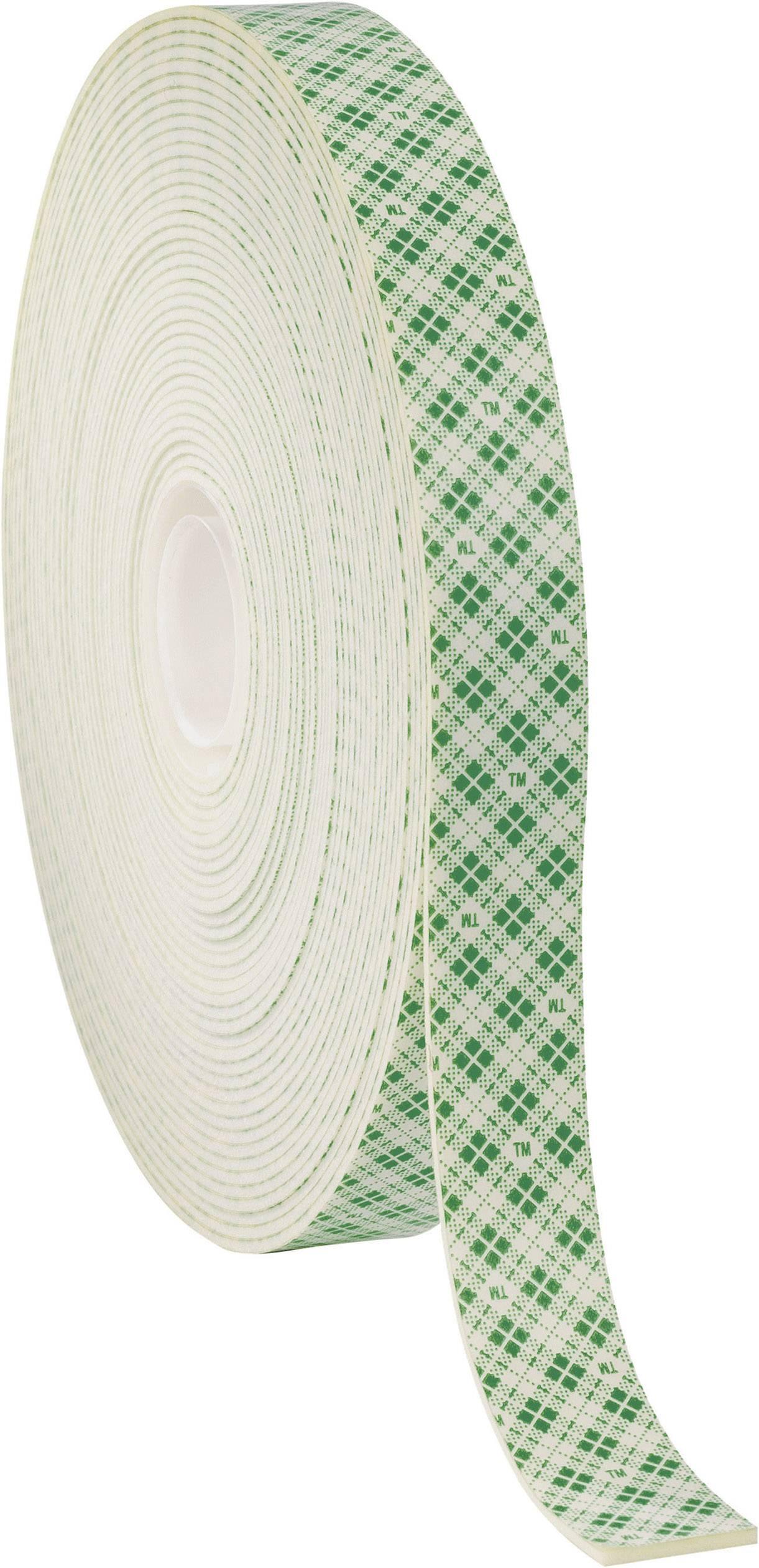 Obojstranná lepiaca páska 3M 4026 FT-0024-8104-0, (d x š) 33 m x 15 mm, krémová, 1 roliek