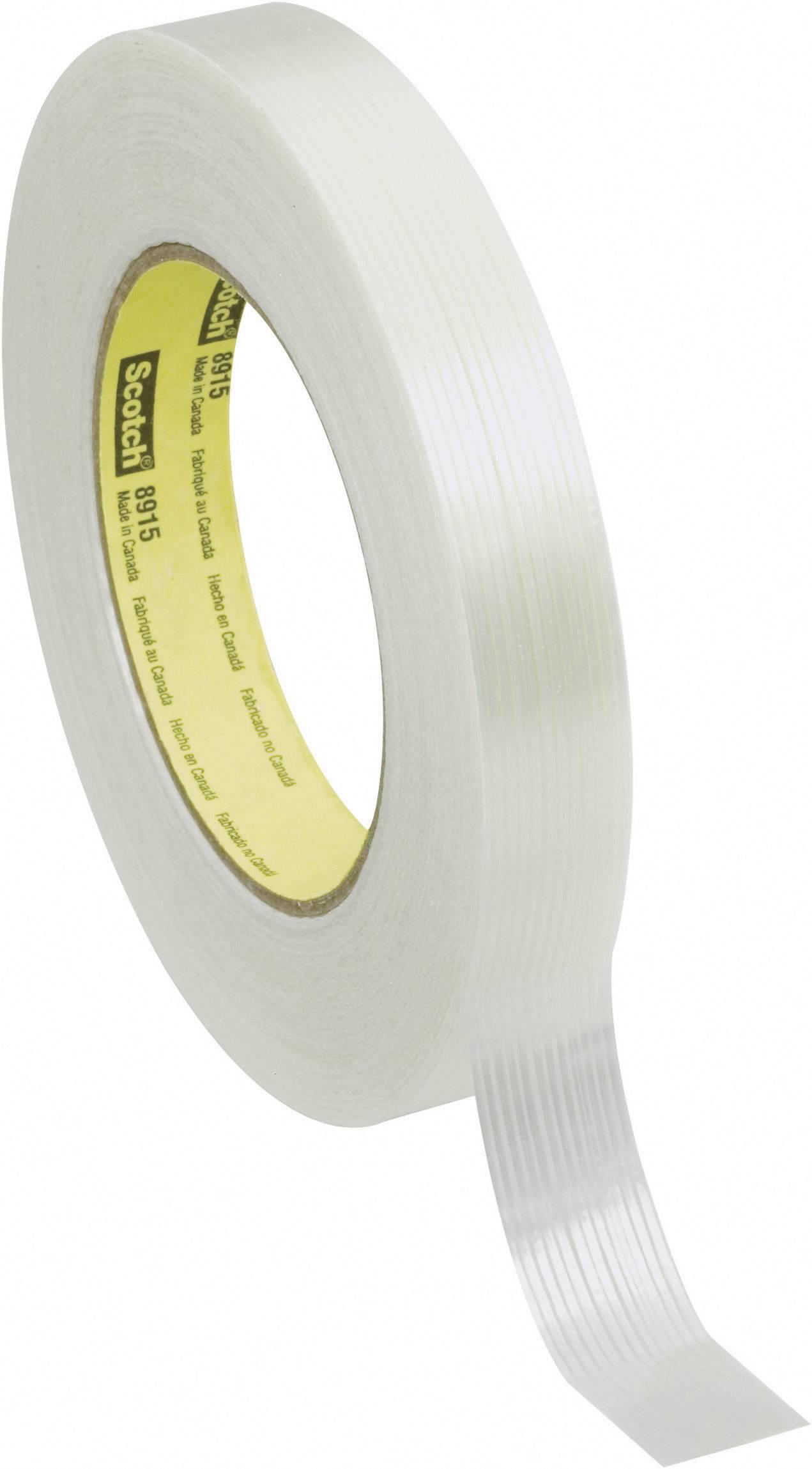 Vláknitá lepiaca páska 3M 8915 70-0061-5843-3, (d x š) 55 m x 18 mm, priehľadná, 1 roliek