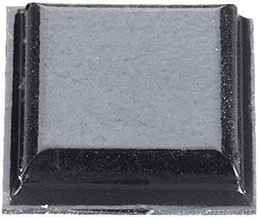 Podstavná nôžka prístrojová 3M SJ 5007, (d x š x v) 10.2 x 10.2 x 2.5 mm, čierna, 1 ks