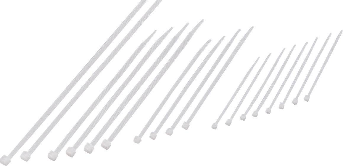 Sada sťahovacích pásiek Conrad Components 541665, 250 mm, prírodná, 200 ks