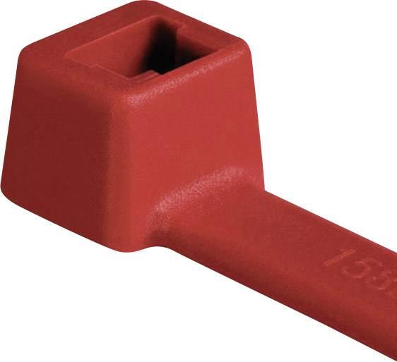 Sťahovacie pásky HellermannTyton T18R-PA66-RD-C1 116-01812, 100 mm, PA66, červená, 100 ks