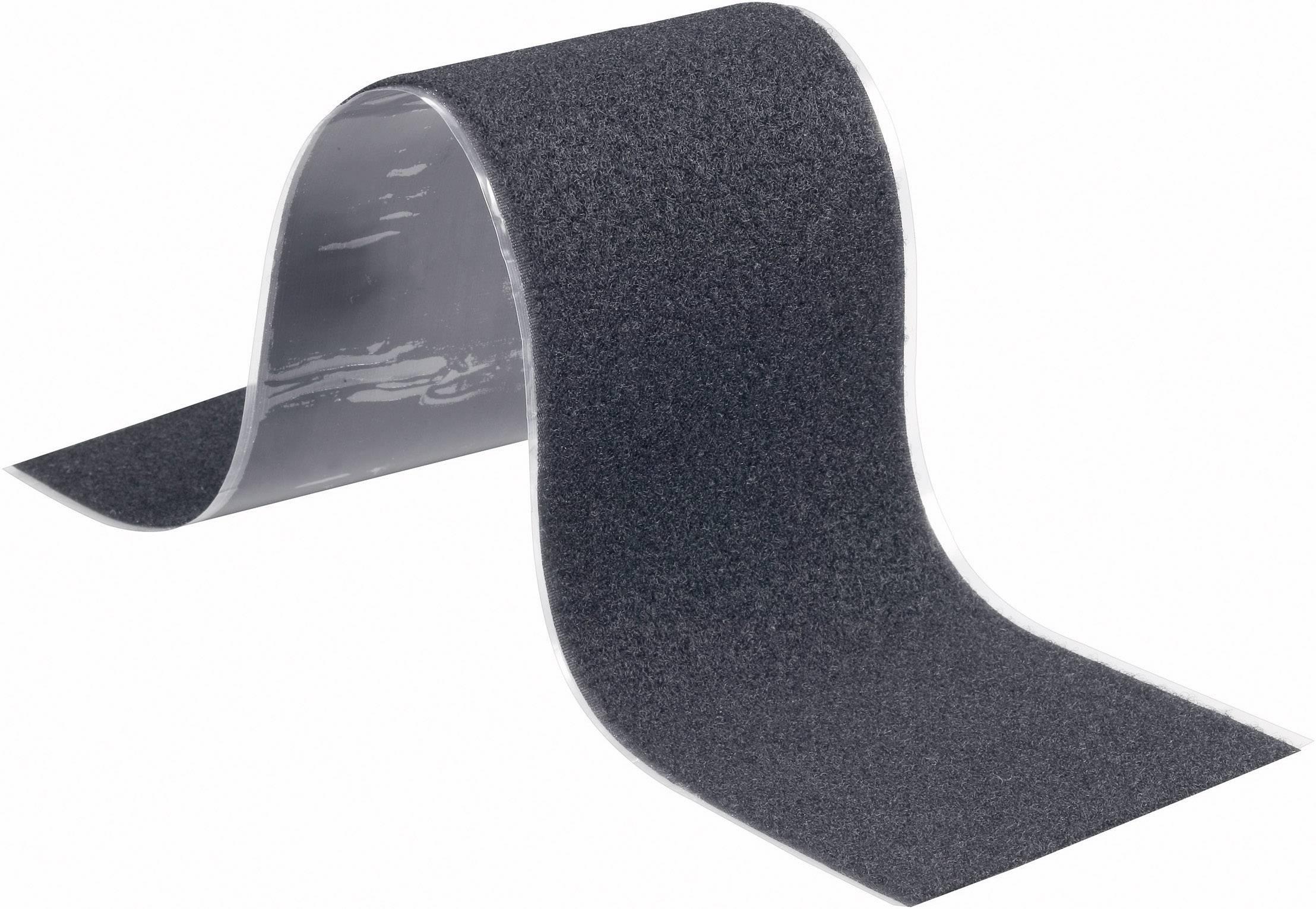 Lepiaci pásik so suchým zipsom Fastech T02-107-500, (d x š) 500 mm x 100 mm, čierna, 1 ks