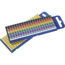Označovací klip na káble HellermannTyton WIC3-0-9-PA-CC-C1 561-03100, Medzinárodný farebný odpor s označením 0 - 9, farebná, 100 ks