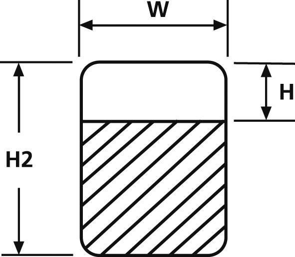 Značení kabelů HT SPRO200-1401-WH (550-14010), (W x H x H2) 19,1 x 12,7 x 50,8 mm, 1 Set
