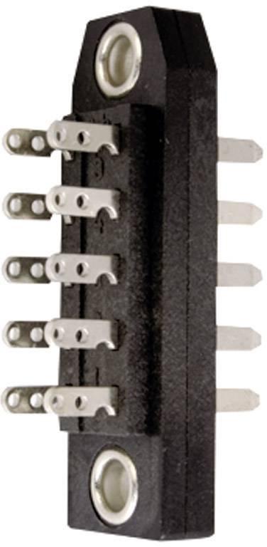Měřicí lišta DIN 41618 Telegärtner J00044A0900, 10pól., 2,54 mm, černá