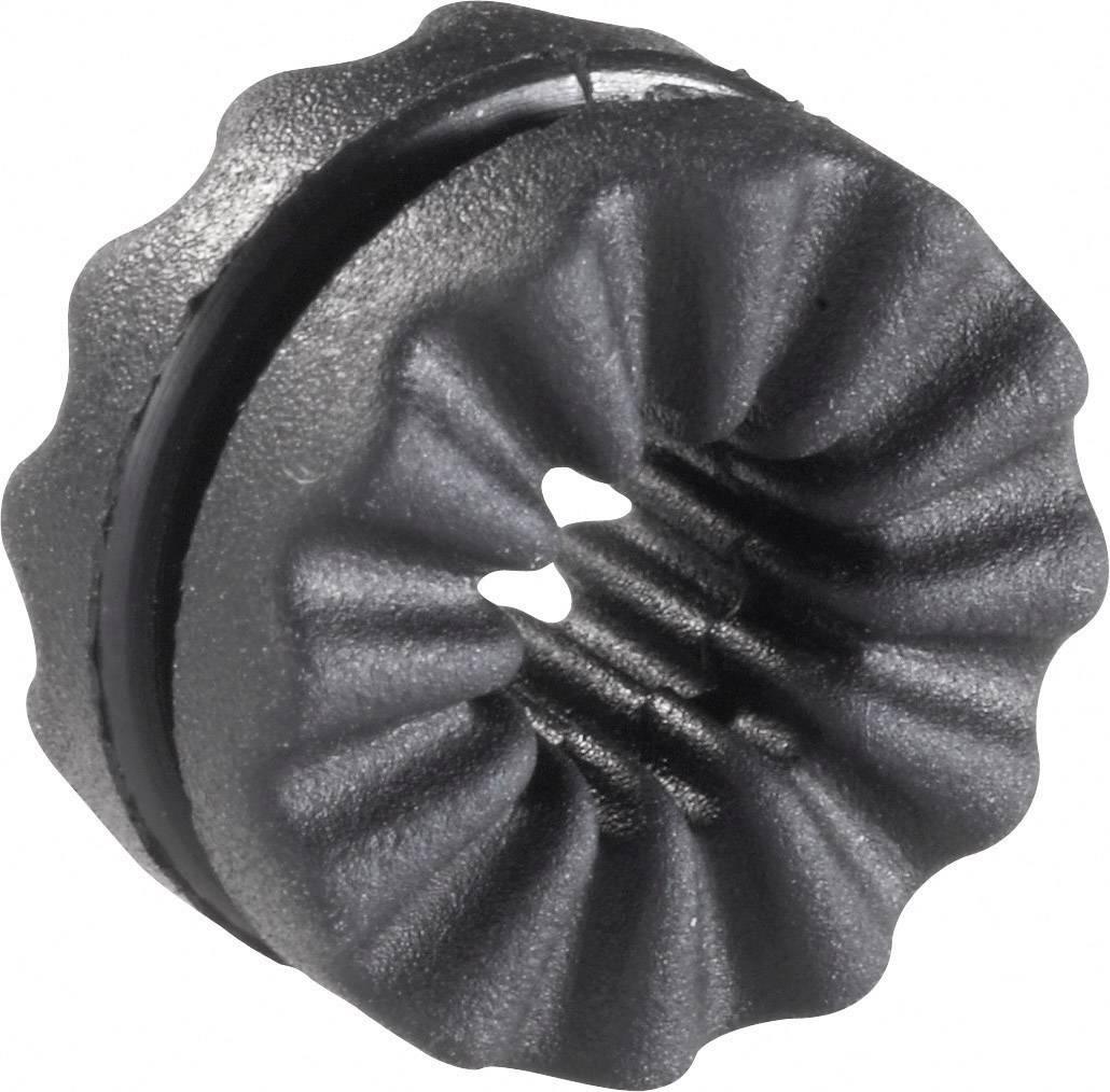 Antivibračné objímka Richco VG-1, Ø 4 mm, čierna, 1 ks