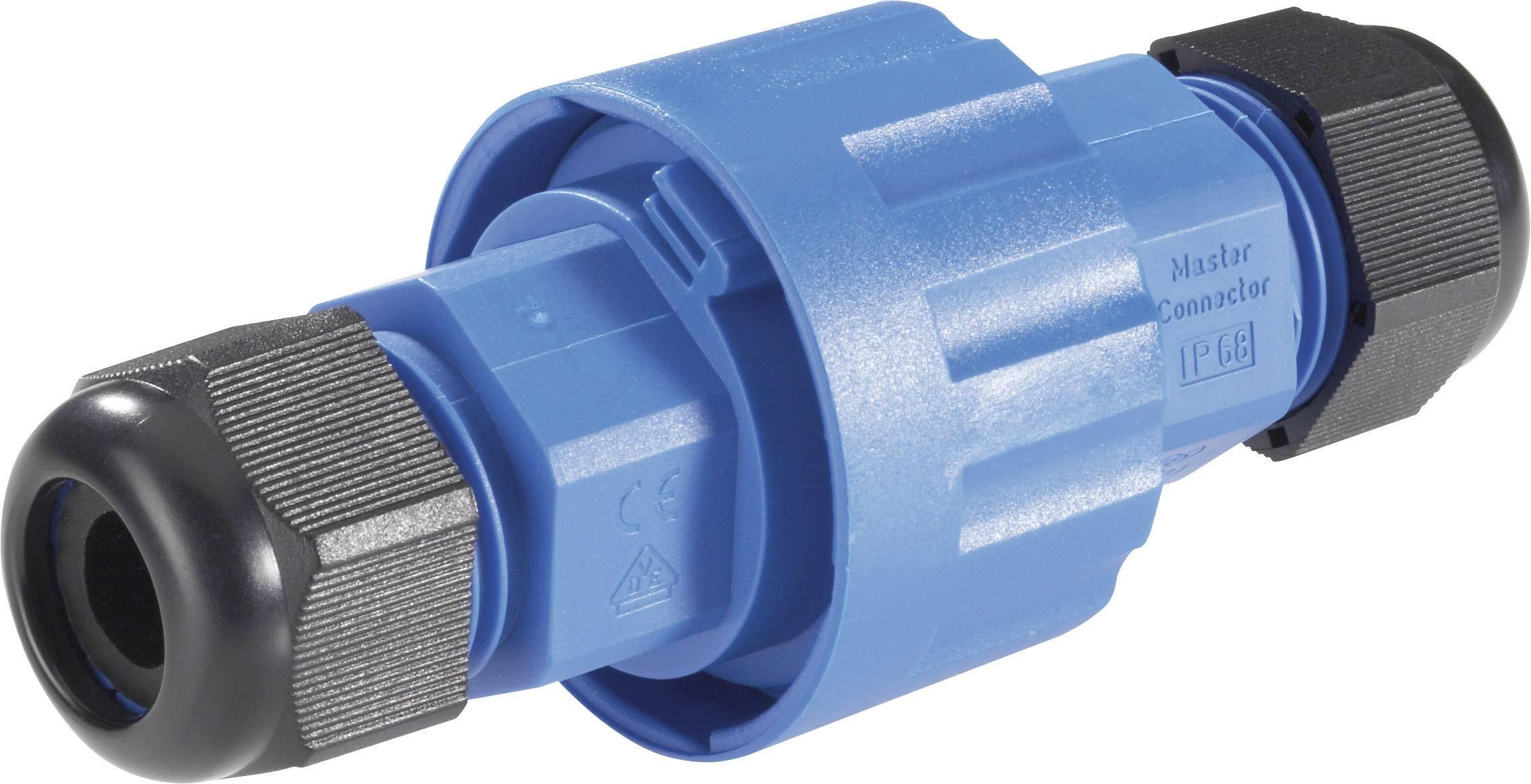 Kabelová spojovací objímka 131850, IP68, Ø 40,5 mm x délka 10 cm, modrá/černá