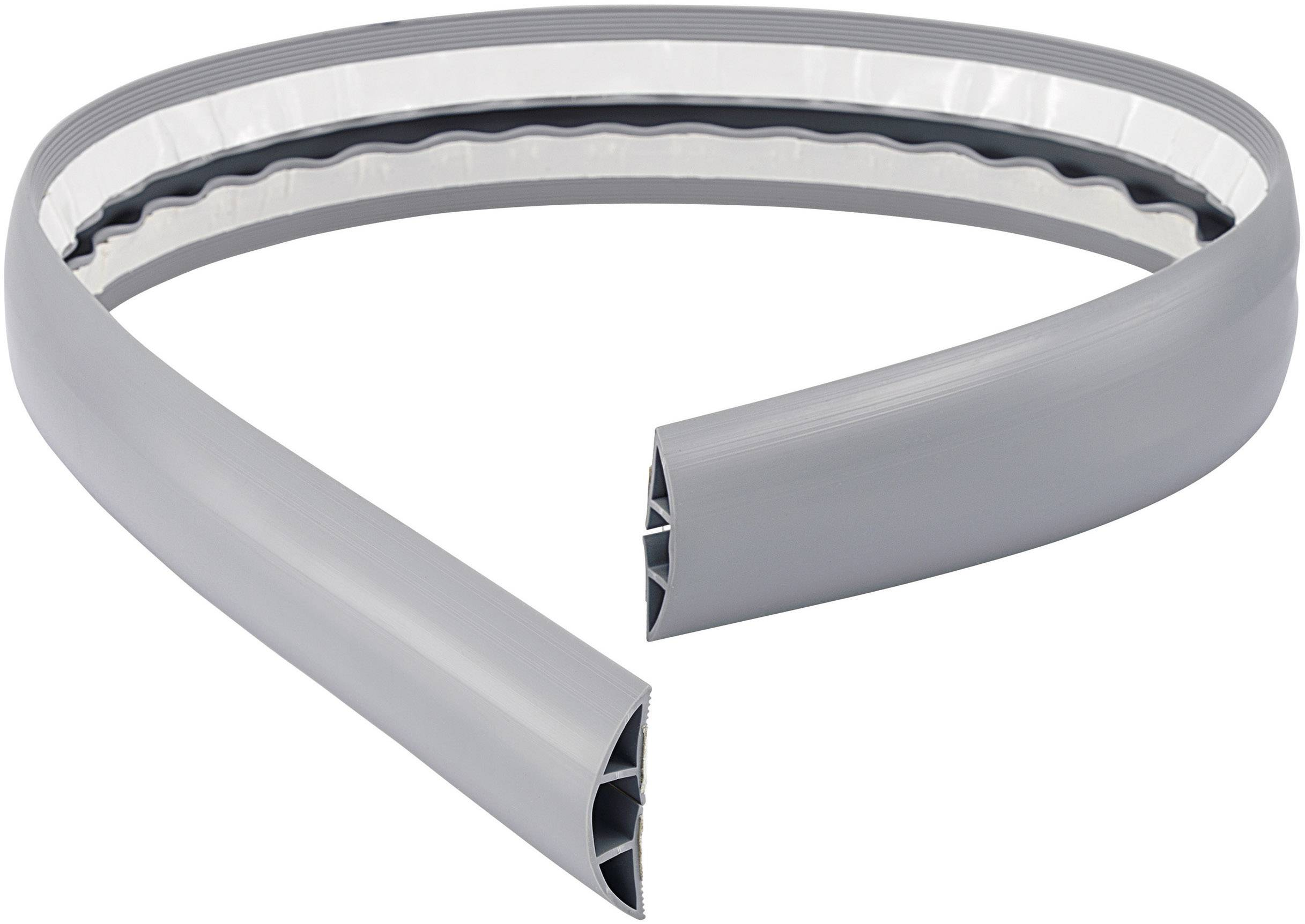 Kabelový můstek Conrad 540763, 3 kabelové trasy, 7,8 - 14,8 mm, 1,8 m, šedá