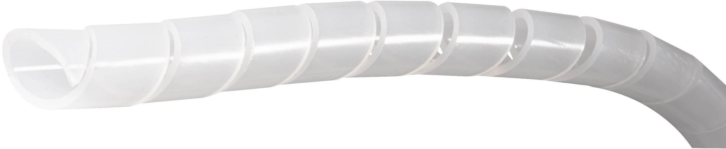 Špirálový káblový oplet PB Fastener SB 120E, 20 do 120 mm, metrový tovar, prírodná