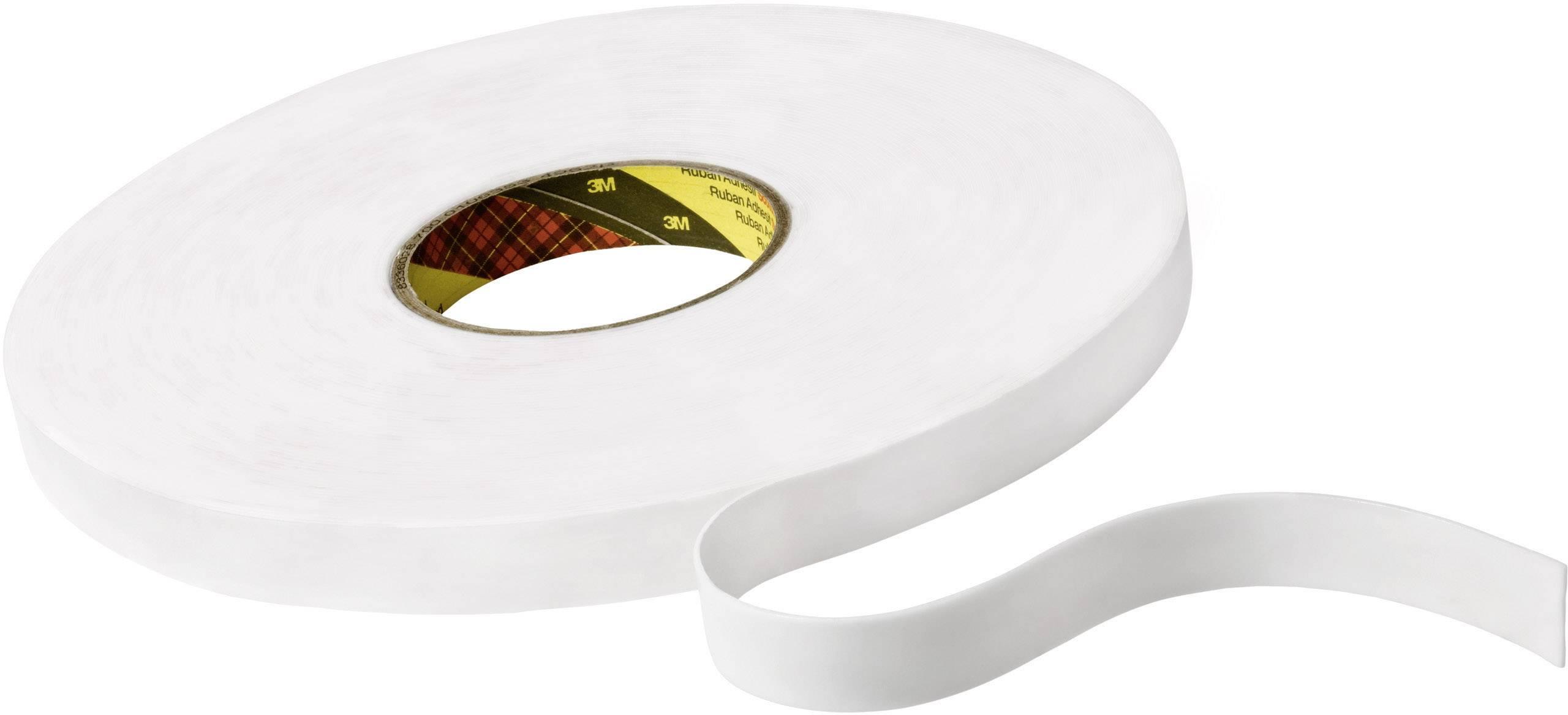 Obojstranná lepiaca páska 3M 9508W KT777306269, (d x š) 66 m x 12 mm, biela, 1 roliek