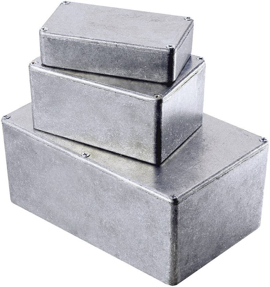 Tlakem lité hliníkové pouzdro Hammond Electronics, (d x š x v) 145 x 121 x 39 mm, hliníková