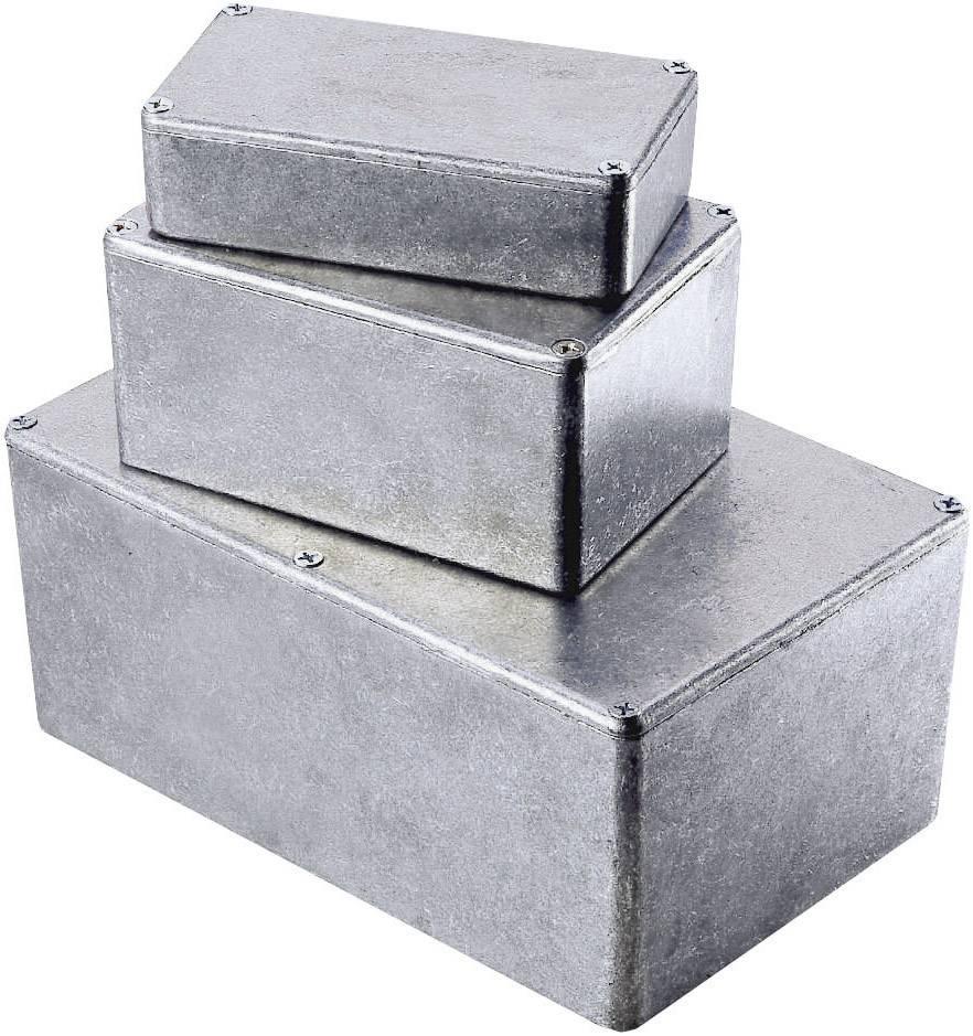 Tlakem lité hliníkové pouzdro Hammond Electronics, (d x š x v) 188 x 120 x 56 mm, hliníková (1590WD)