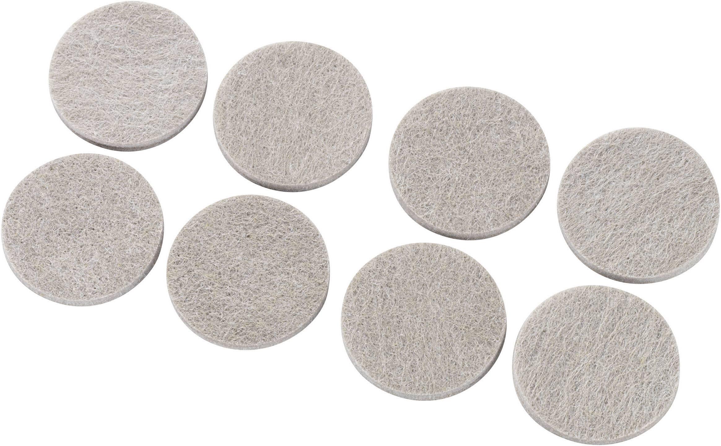 Plstené podložky (Ø x v) 38 mm x 5 mm, sivá, 8 ks