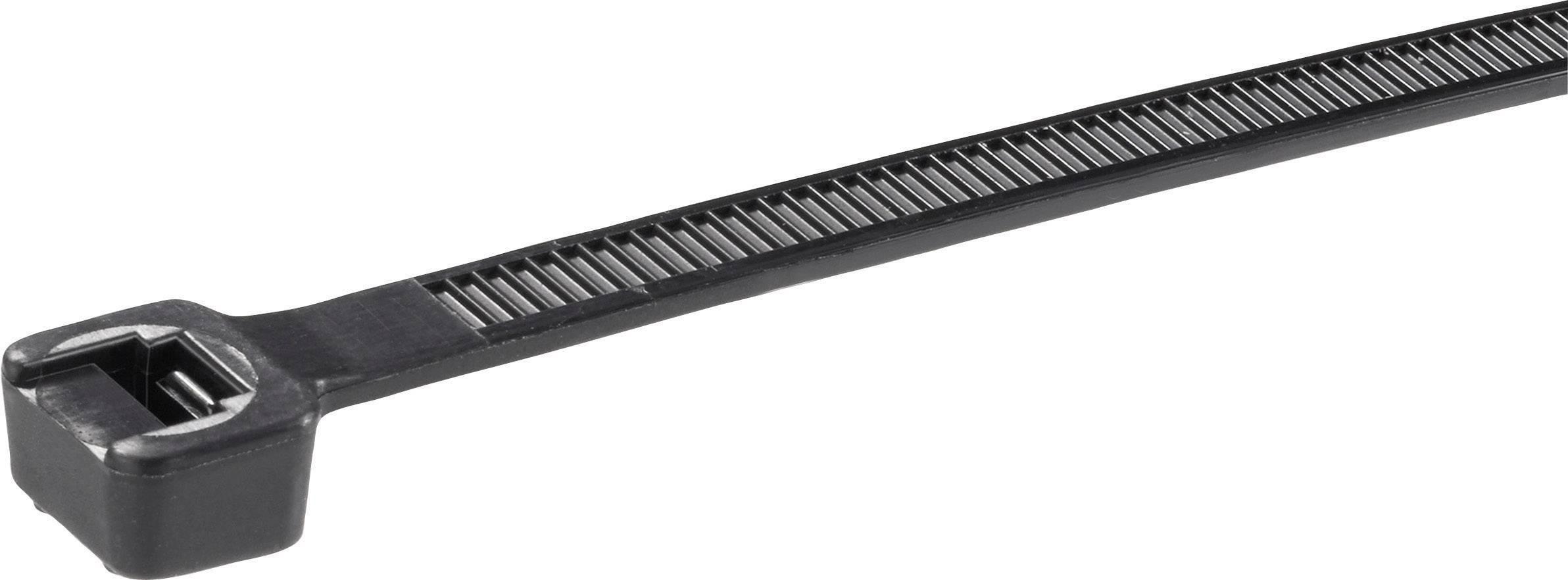 Sťahovacie pásky Panduit PLT2S-C0, 188 mm, polyamid 6.6, čierna, 100 ks