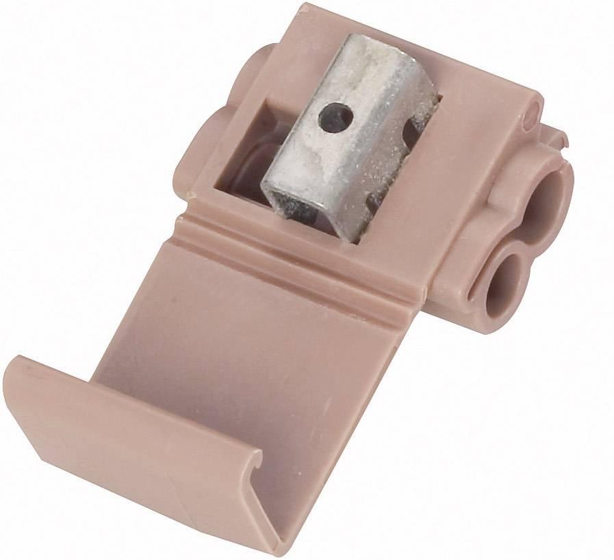 Zářezová svorka 3M, 80-6100-3143-9, 1,5 - 4 mm², 2pólová, hnědá