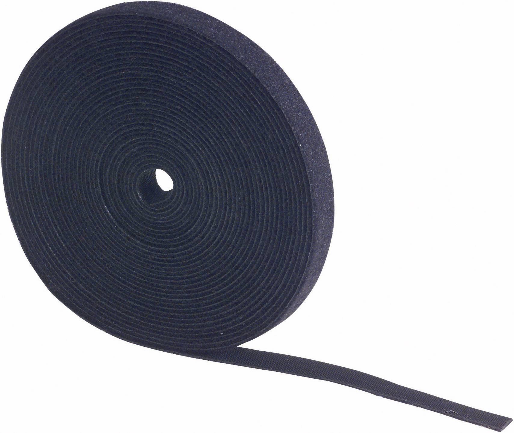 Pásik so suchým zipsom Fastech 695-330-Bag, (d x š) 5000 mm x 25 mm, čierna, 5 m