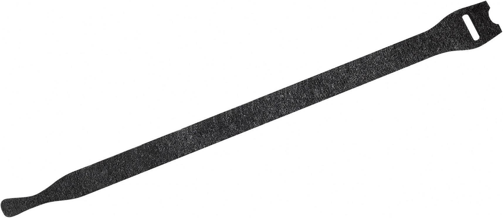 Káblový manažér na suchý zips Fastech 802-330, (d x š) 200 mm x 13 mm, čierna, 10 ks
