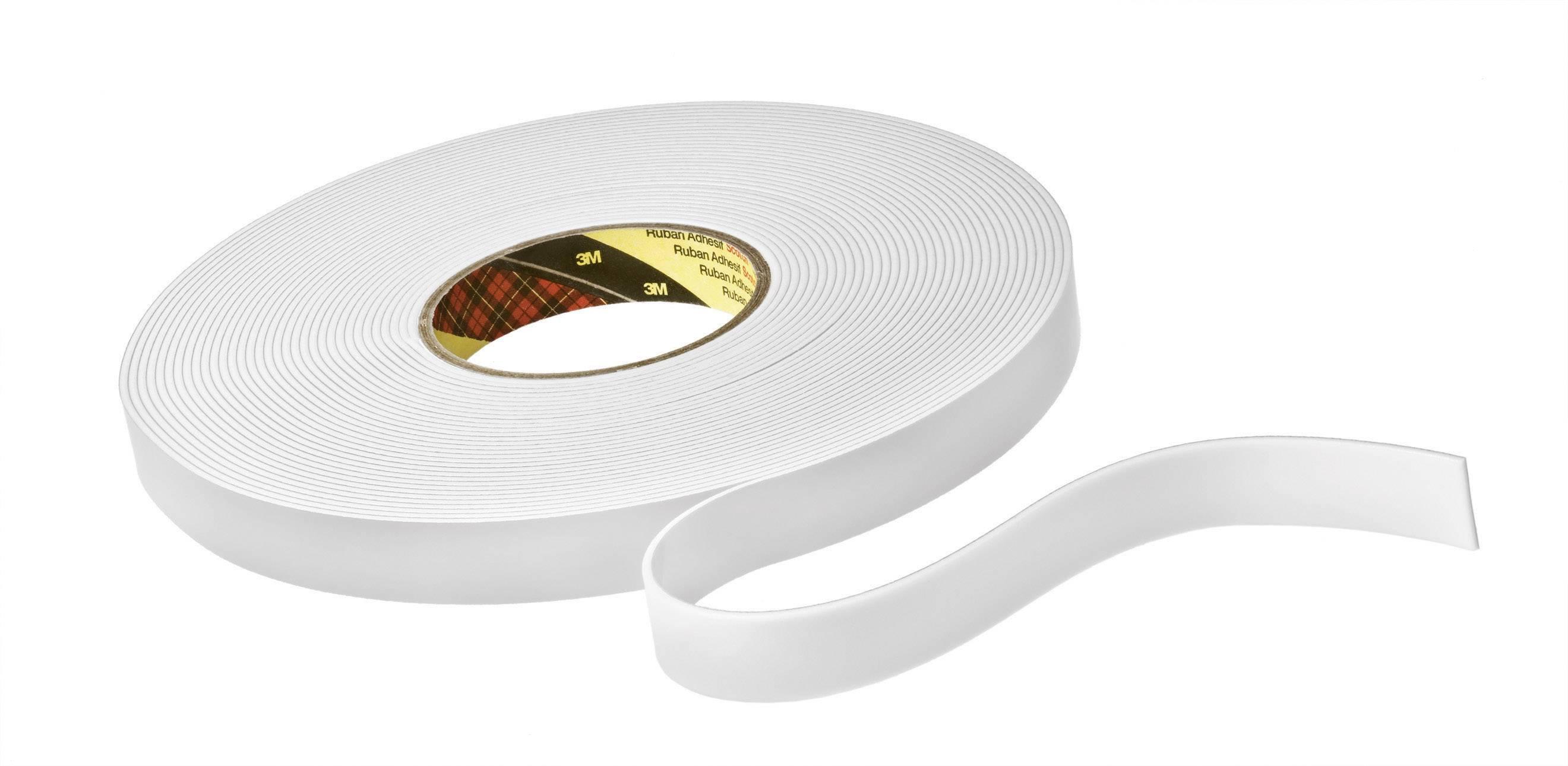 Oboustranná lepicí páska 3M 9515W KT777306251, (d x š) 33 m x 12 mm, akryl, bílá, 1 role