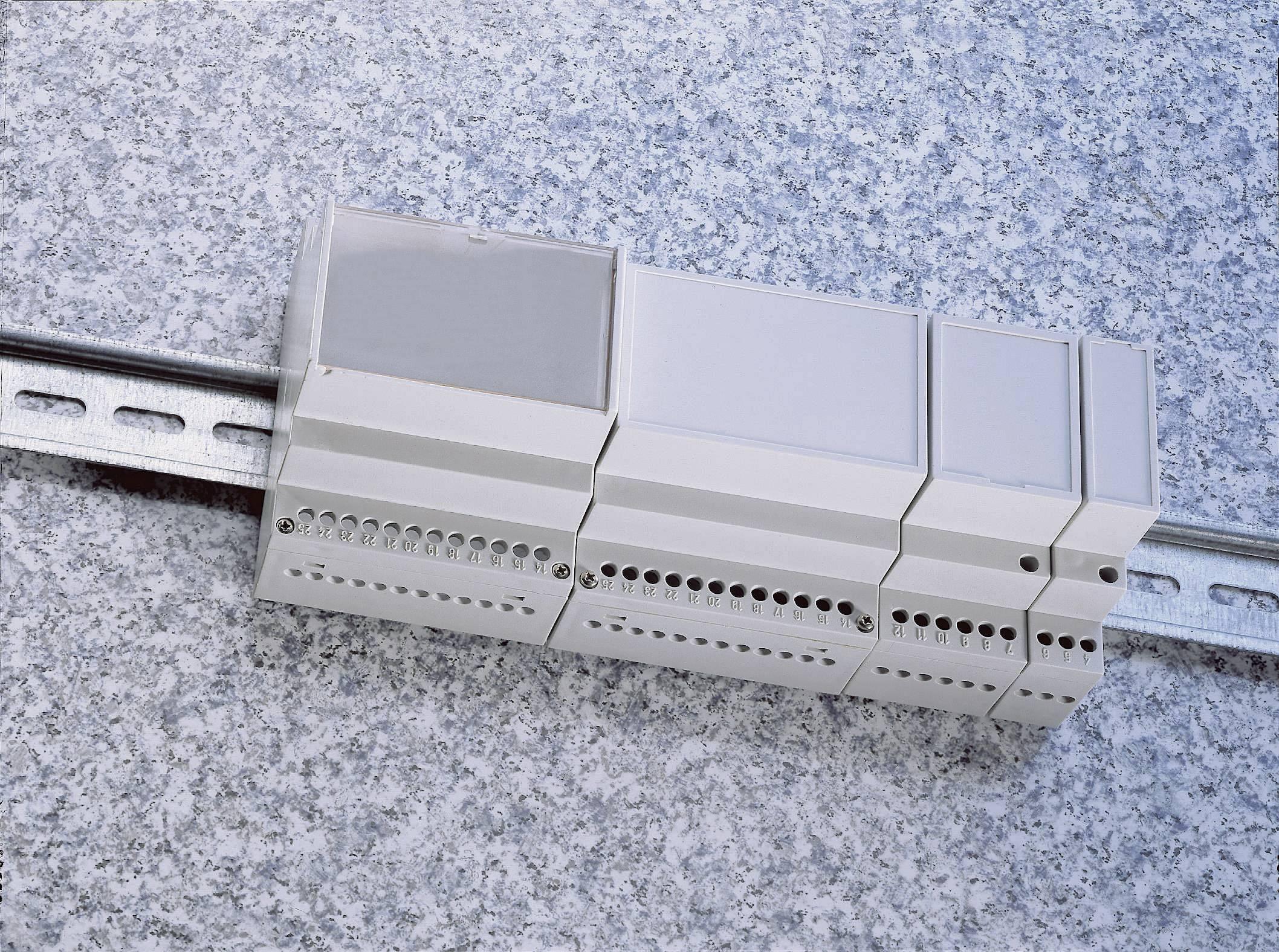 Pouzdro do lišty MR9/C FA RAL7035 ABS (018037129135), 157,5 x 90 x 68 mm