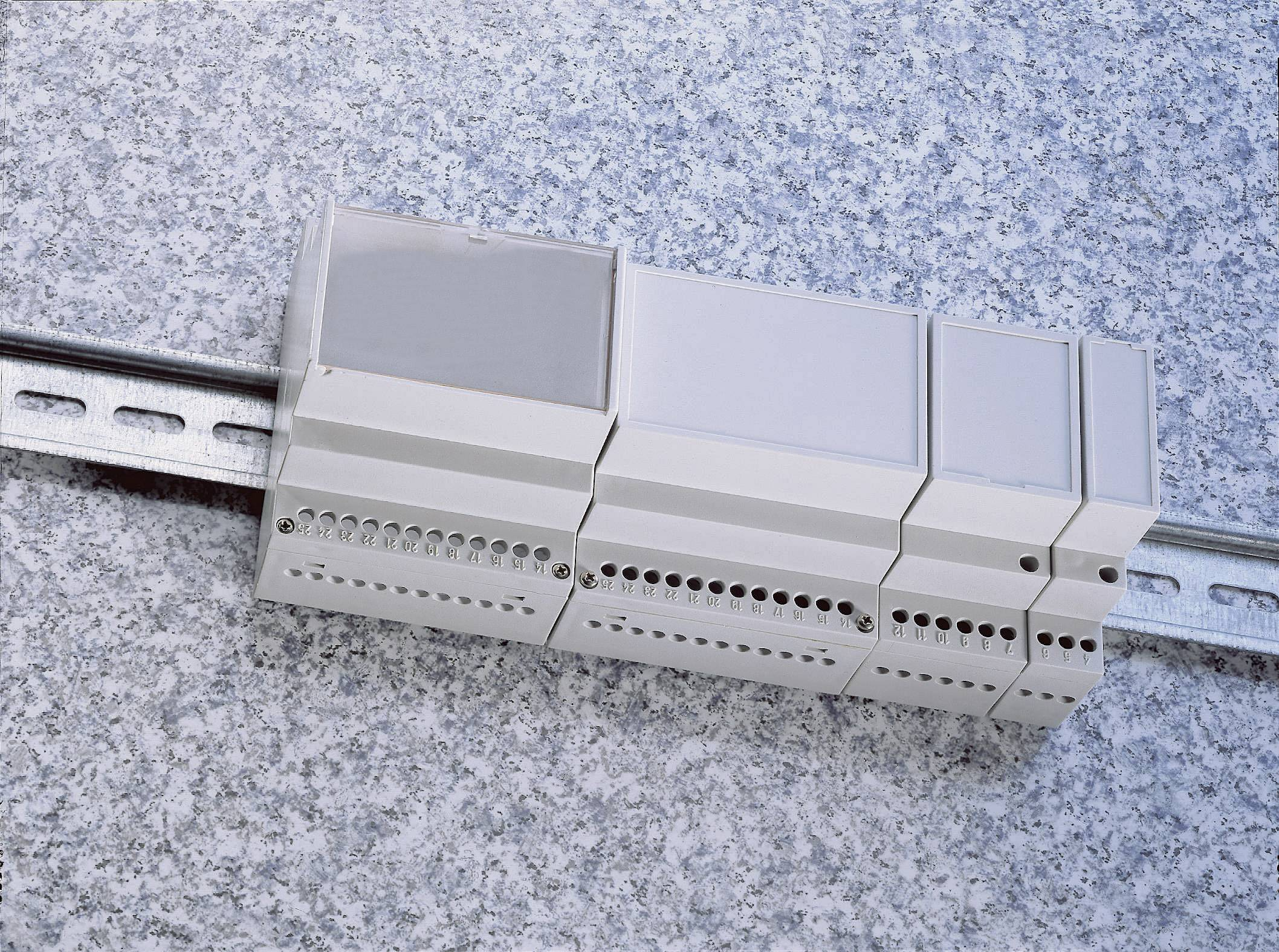 Pouzdro do lišty Weltron MR2/C FA RAL7035 ABS (018037129125), 35 x 90 x 68 mm