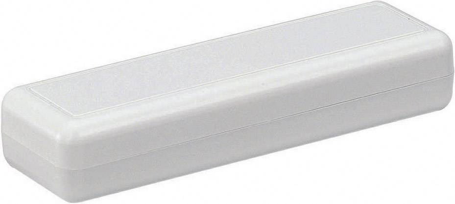 Plastová krabička Strapubox 2090, 129 x 40 x 24 mm, ABS, sivá, 1 ks