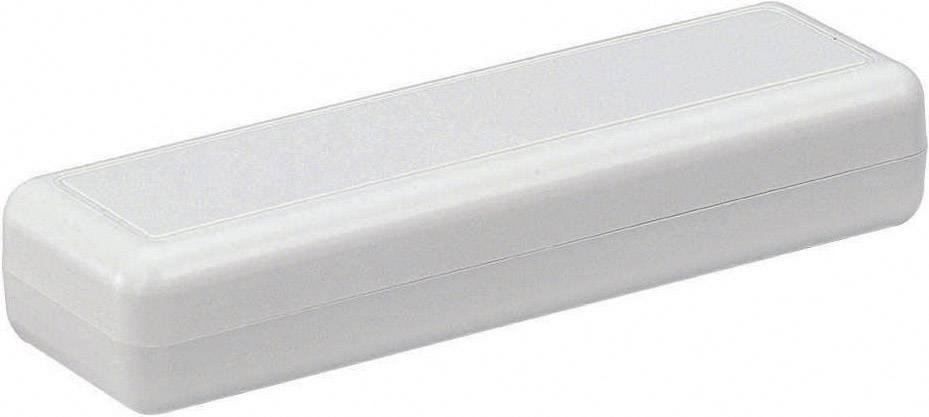 Plastová krabička TRU COMPONENTS TC-2090 GR203, 129 x 40 x 24 mm, ABS, sivá, 1 ks