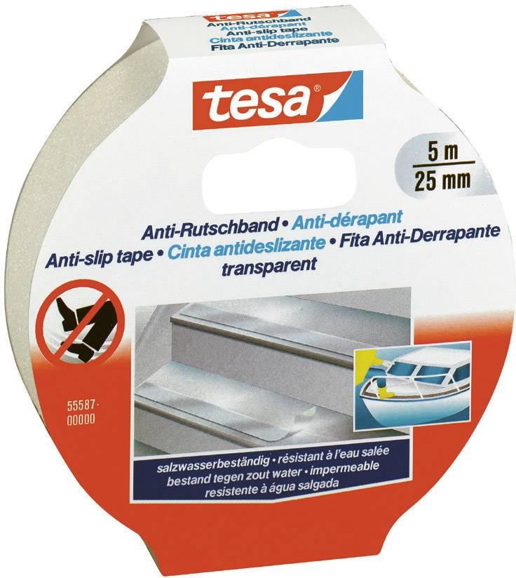Anti-slip tape tesa 55587-0-0 55587-0-0, (d x š) 5 m x 25 mm, priehľadná, 1 roliek