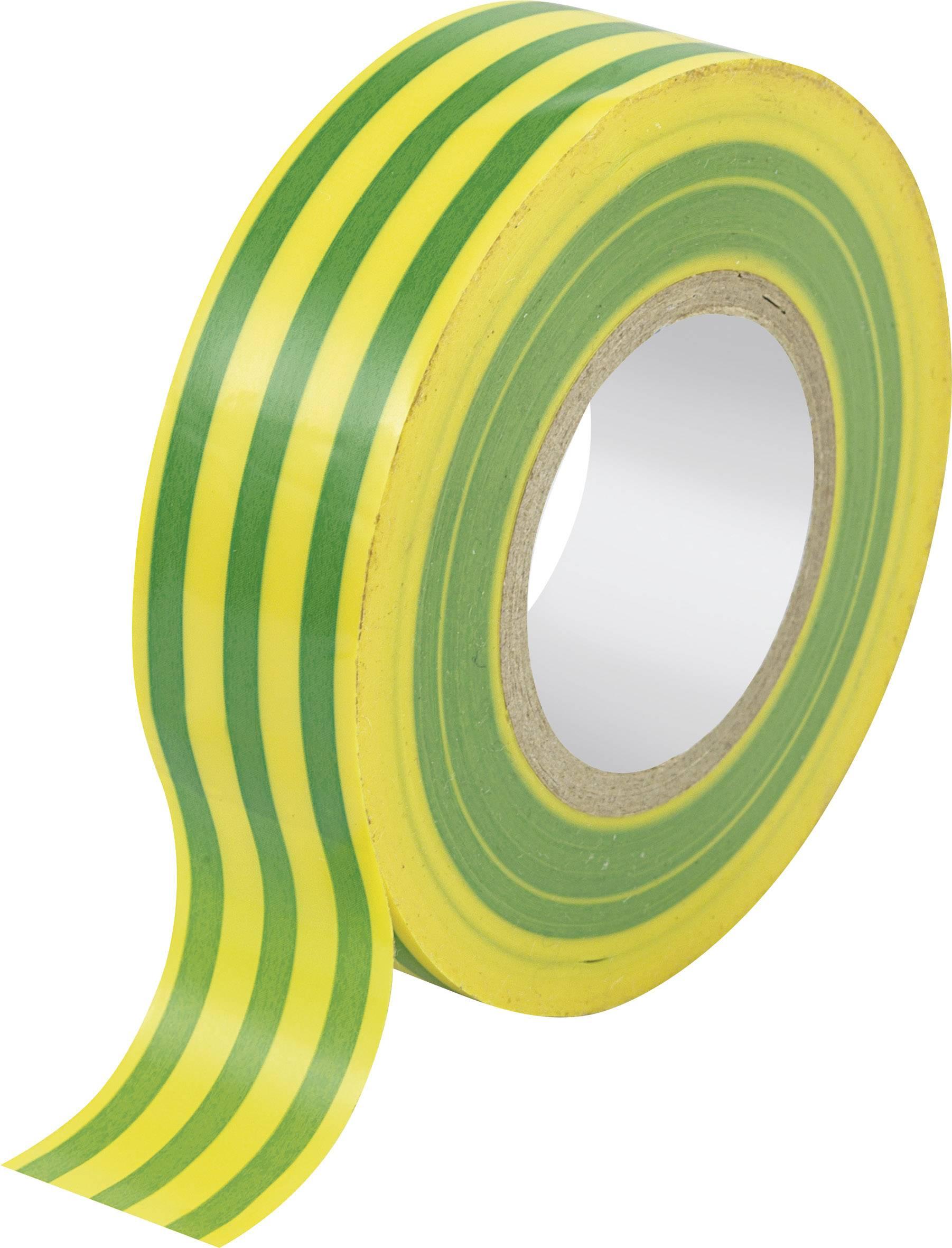 Izolační páska, 19 mm x 25 m, žlutozelená