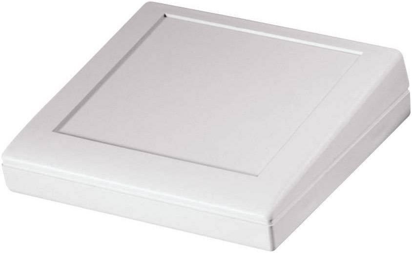 Pultové pouzdro ABS Pactec, (d x š x v) 137 x 137 x 20,80/38 mm, béžová (KEU5-LP)