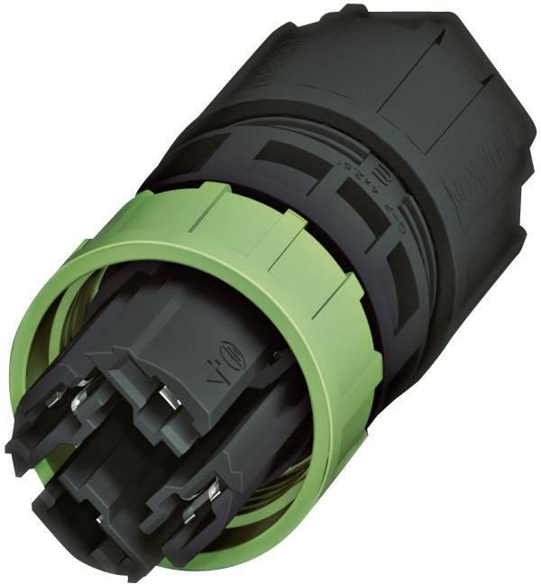 QUICKCON konektor Phoenix QPD P 3PE2,5 6-10 BK (1582202), zástrčka rovná, 3 + PE , IP68
