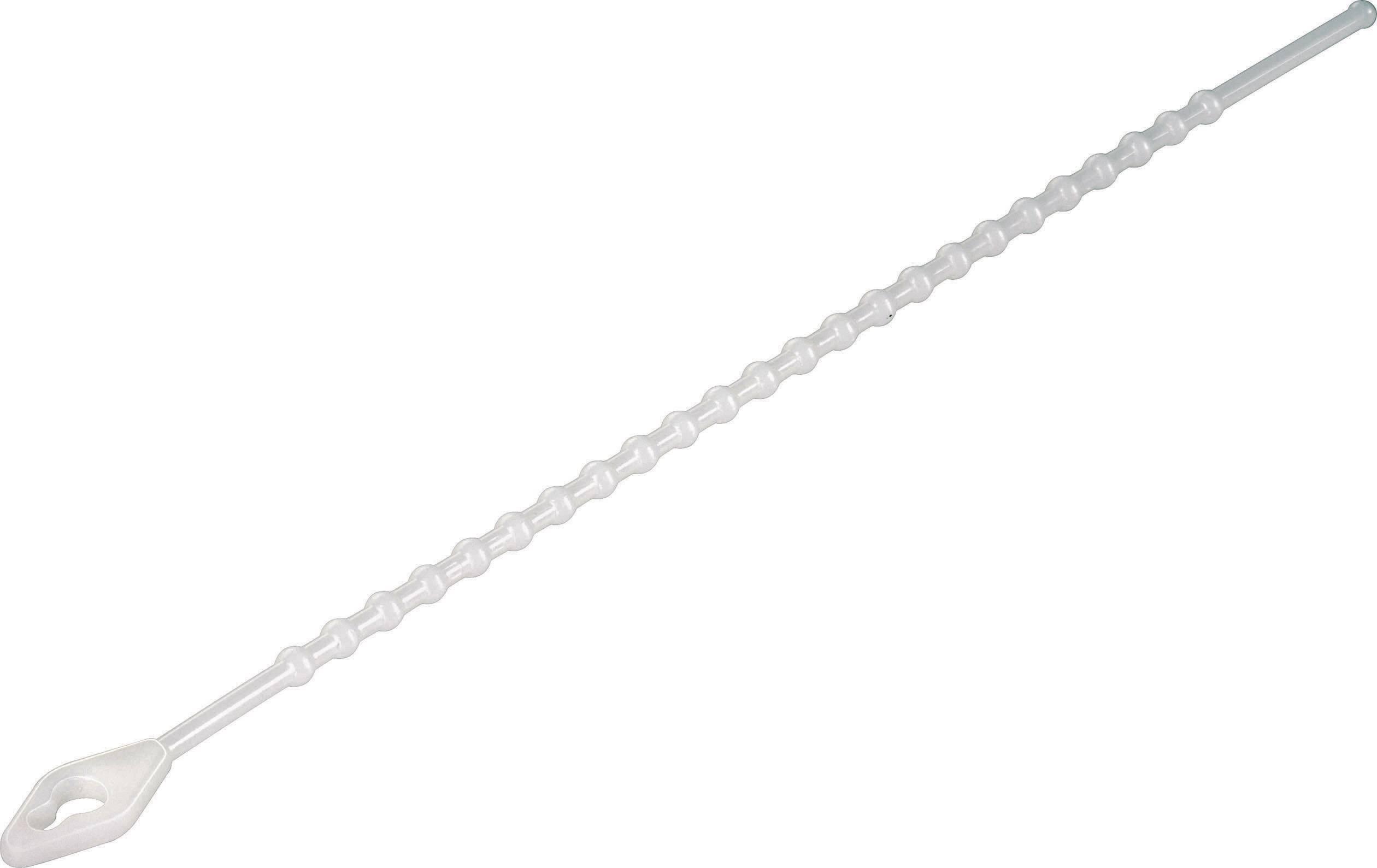 Perličkové stahovací pásky KSS TV230, 230x 3,8 mm, 100 ks, transparentní