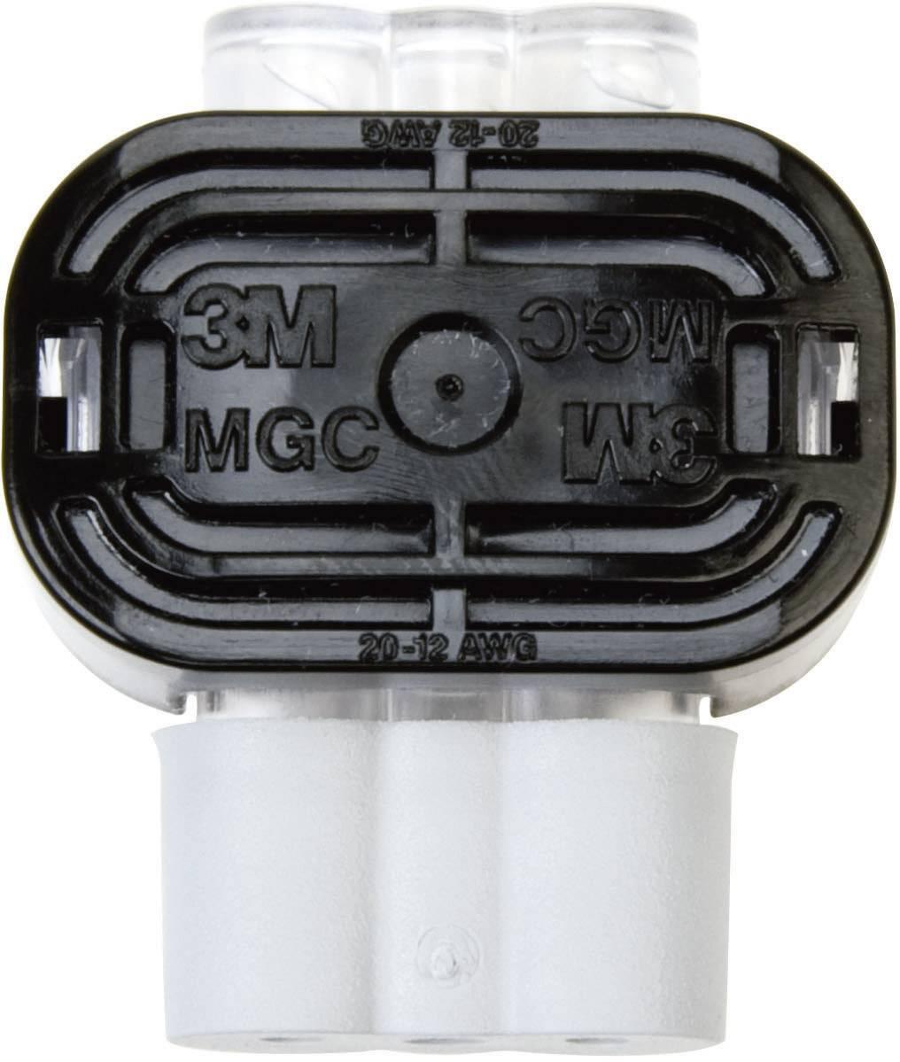 Nízkonapěťový konektor 3M 80611434152 na kábel s rozmerom 0.79-3.14 mm², tuhosť 0.79-3.14 mm², počet pinov 2, 1 ks, sivá