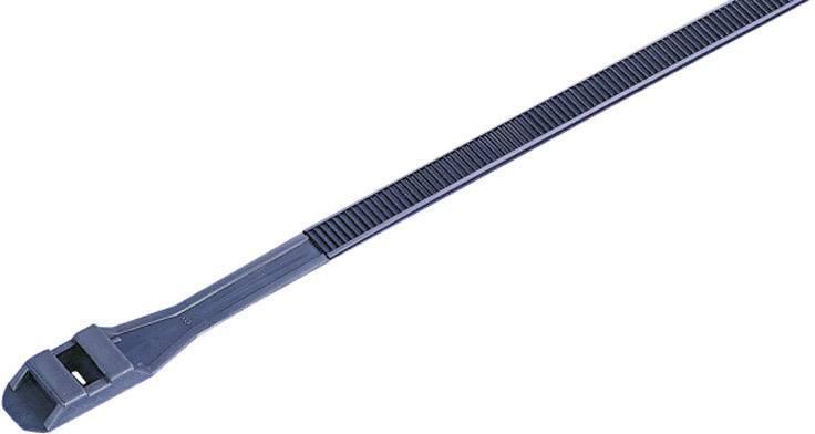 Sťahovacie pásky KSS DLR180BK 541654, 180 mm, čierna, 100 ks