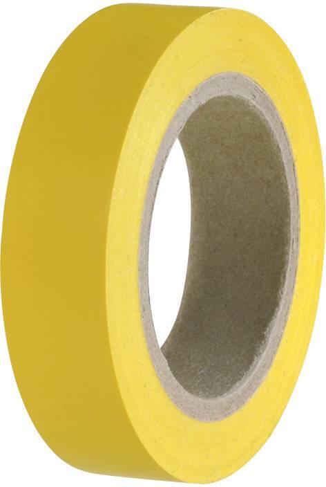 Izolačná páska HellermannTyton HelaTape Flex 15 710-00102, (d x š) 10 m x 15 mm, žltá, 1 roliek