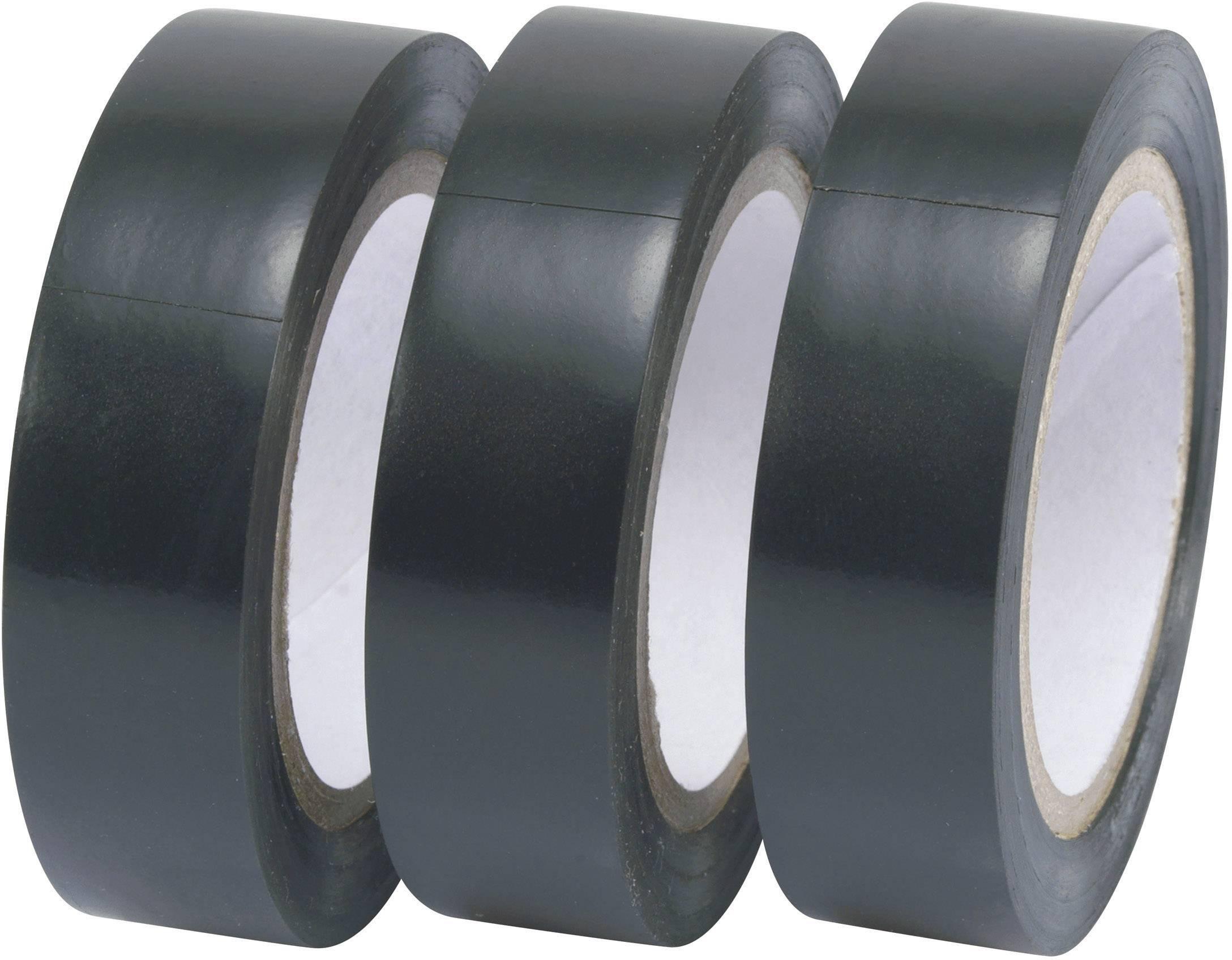 Izolačná páska Conrad Components 541659, (d x š) 10 m x 15 mm, čierna, 3 roliek