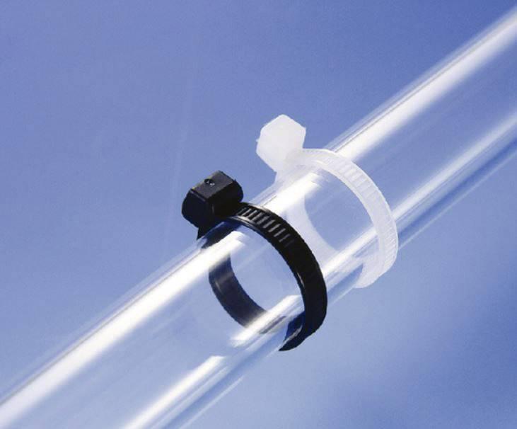 Stahovací páska HellermannTyton 100 x 2.5 mm, 100 ks, černá, vnější ozubení