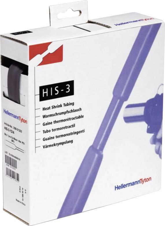Smršťovací bužírka bez lepidla HellermannTyton HIS-3-3/1-PEX-GNYE 308-30307 3:1, -55 až +125 °C, 3 mm, zelenožlutá, 10 m