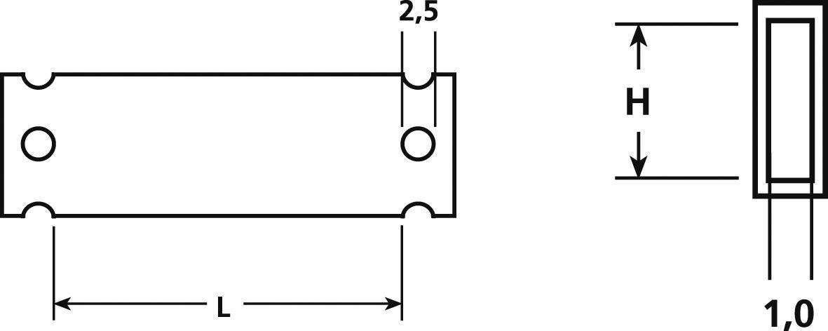 HellermannTyton HC12-17-PE-CL, (d x š) 17.5 mm x 13 mm, 1 ks, priehľadná