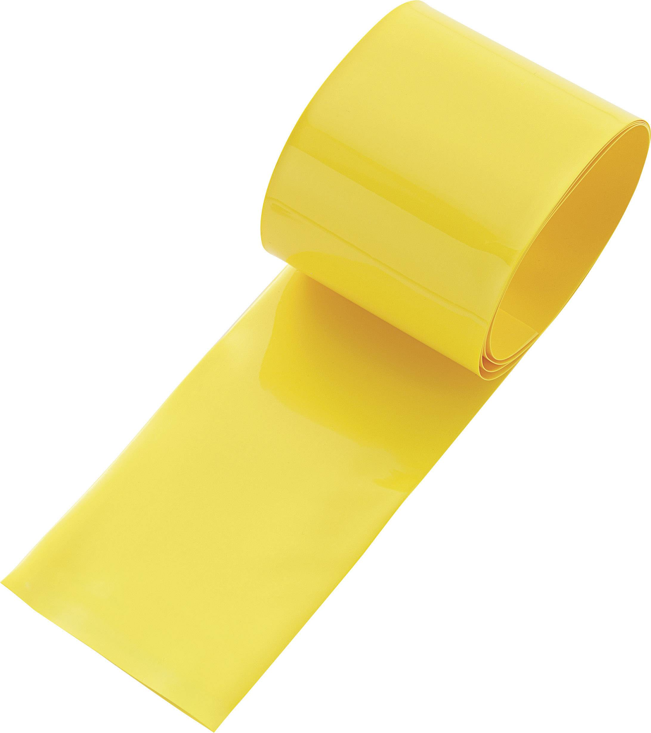 Zmršťovacia bužírka na akumulátory, bez lepidla TRU COMPONENTS 93014c85e, 130 mm, žltá, 1 ks